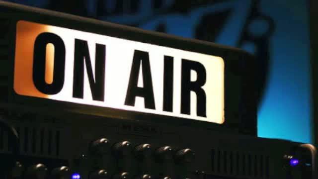 radio presenting on air